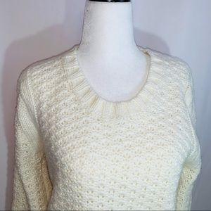 Lole Wool Blend Waffle Weave Sweater M